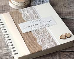 personalised wedding guest book wedding guest book etsy