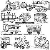 clipart of old train station elements k10837283 search clip art