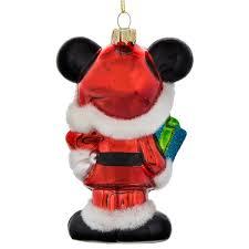 santa mickey mouse glass ornament shopdisney