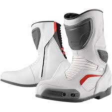 white motorcycle boots icon overlord boots jafrum motorsports