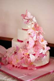 wedding cakes pictures pink butterfly wedding cakes