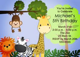 How To Make Invitation Cards For Birthday Zoo Safari Birthday Invitation For Boys Or Girls Printable