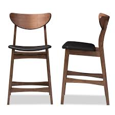 Scandinavian Leather Chairs Bar Stools Bar Furniture Affordable Modern Furniture Baxton