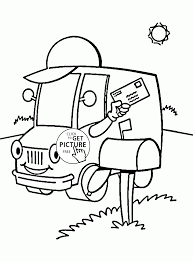 post truck coloring page for kids transportation coloring pages
