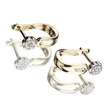 cercei din aur cu diamante b614