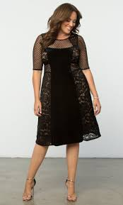 cocktail dress plus size velvet dress mixed lace cocktail dress