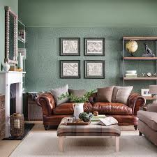 country livingrooms living room relaxed country living room with botanical wallpaper