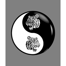 sticker yin yang tribal tiger for car notebook or smartphone
