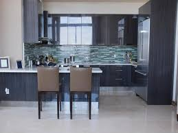 interior u shape broken white wooden cabinet plus small brown cabinets drawer the all white distressed painted kitchen