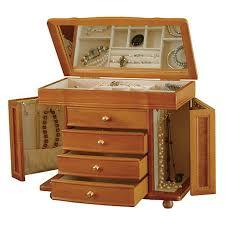 Ballard Designs Jewelry Armoire Mele U0026 Co Josephine Wooden Jewelry Box In Oak Finish 7117834 Hsn