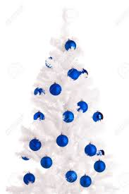 christmas tree decorations white and blue modern red and white