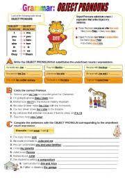 english exercises object pronouns