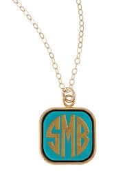 monogram acrylic necklace moon and lola small square acrylic monogram pendant necklace woman
