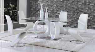White Dining Room Table And 6 Chairs Anthe Dining Set U2013 Jennifer Furniture