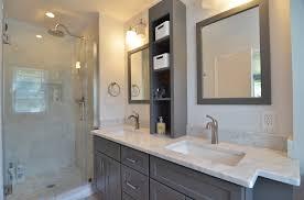 Bathroom Vanity Shelves Classic Bath With Grey Vanity In Media Pa