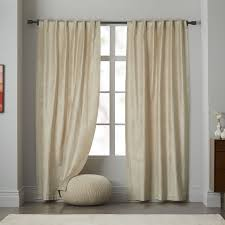 Contemporary Blackout Curtains Cotton Luster Velvet Curtain Platinum West Elm