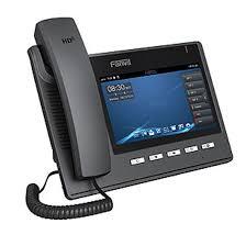 le de bureau tactile c400 telephone voip de bureau ecran tactile de 7 fanvil
