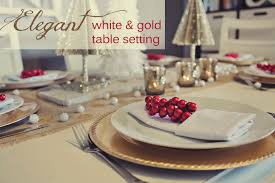 Gold Table Setting by White And Gold Table Settings Home Design Ideas