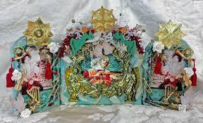 Paper Mache Christmas Crafts - artfully musing angel shrine u0026 tutorial