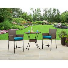 Walmart Patio Furniture In Store - better homes and gardens fairfield bay 3 piece balcony bistro set
