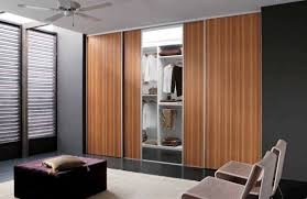 the functional of wood sliding closet doors with bedroom pretty