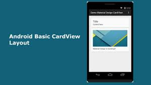 android layout android basic cardview layout