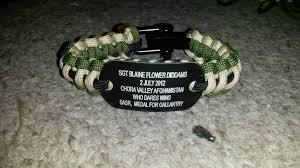 air bracelet special air service regiment sasr dog tag bracelet sgt blaine