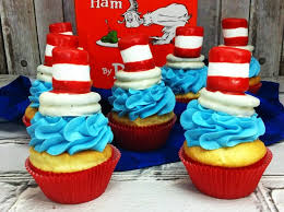 dr seuss cupcakes cat in the hat cupcakes for a dr seuss day party