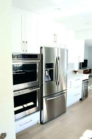 over refrigerator cabinet lowes double wall oven lowes triangleofopportunity info