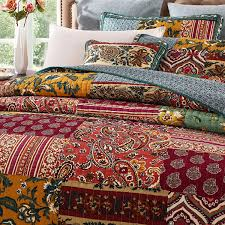 Red And Cream Duvet Cover Bedroom Very Beautiful Colors With Bohemian Duvet U2014 Iahrapd2016 Info