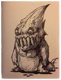 mike u0027s art blog 25 shark boy monster creature cartoon