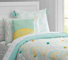 Girls Quilted Bedding by Puffy Ikat Quilt Pottery Barn Kids