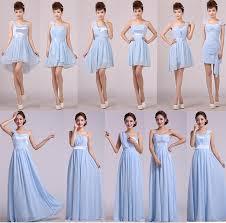 Wedding Dresses Light Blue Custom Design Light Blue Formal Dress Bridesmaid Dresses Costume
