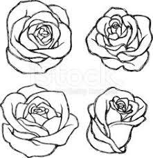 flower outline tattoos rose outline tattoo stencil line art