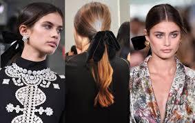 hair ribbon fall 2017 ponytail hair velvet ribbon by burch hairdrome