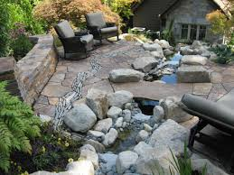 Rock Patio Design River Rock Patio Pit Ways That Outdoor Space Can Be