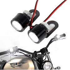 led strobe lights for motorcycles new arrivals 1 pair motorcycle white led mirror strobe flash warning