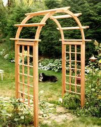 Garden Bench With Trellis Arbors U0026 Trellises Sears