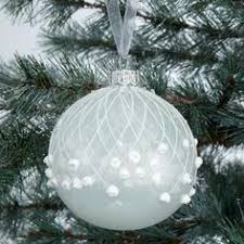 buy lewis snowdrift glass flitter lace bauble white and