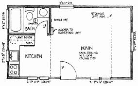 free cabin plans with loft the 14 x 24 floor plan
