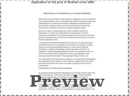 application for the post of librarian cover letter custom paper