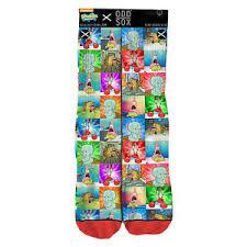 Meme Socks - odd sox x nickelodeon men s sponge memes socks multi color spongebob