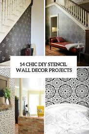 14 fashionable diy stencil wall décor tasks decor10 blog