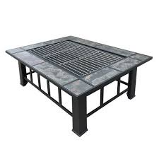 Rectangle Fire Pit - outdoor fire pit bbq table grill fireplace rectangle u2013 fire pits