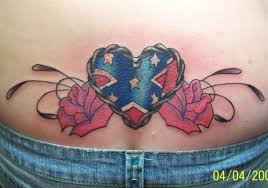 rebel flag heart tattoo design in 2017 real photo pictures