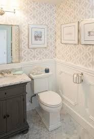 wallpapered bathrooms ideas st single vanity in powder room transitional bathroom