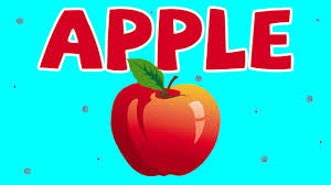 learn fruits song apple cartoon rhymes for kids english
