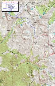 Colorado Trail Maps by Comanche Venable Loop Crestone Area Sangre De Cristo Wilderness