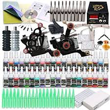 tattoo kit without machine amazon com starter tattoo kit 2 tattoo machine power supply needles