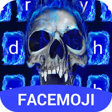 skull apk blue skull emoji keyboard theme for instagram v2 0 apk
